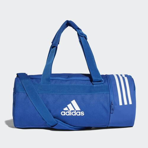 adidas - Convertible 3-Stripes Duffel Bag Small Collegiate Royal / White / White DM7784