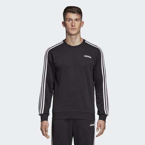 adidas - Essentials 3-Stripes Sweatshirt Black / White DQ3083