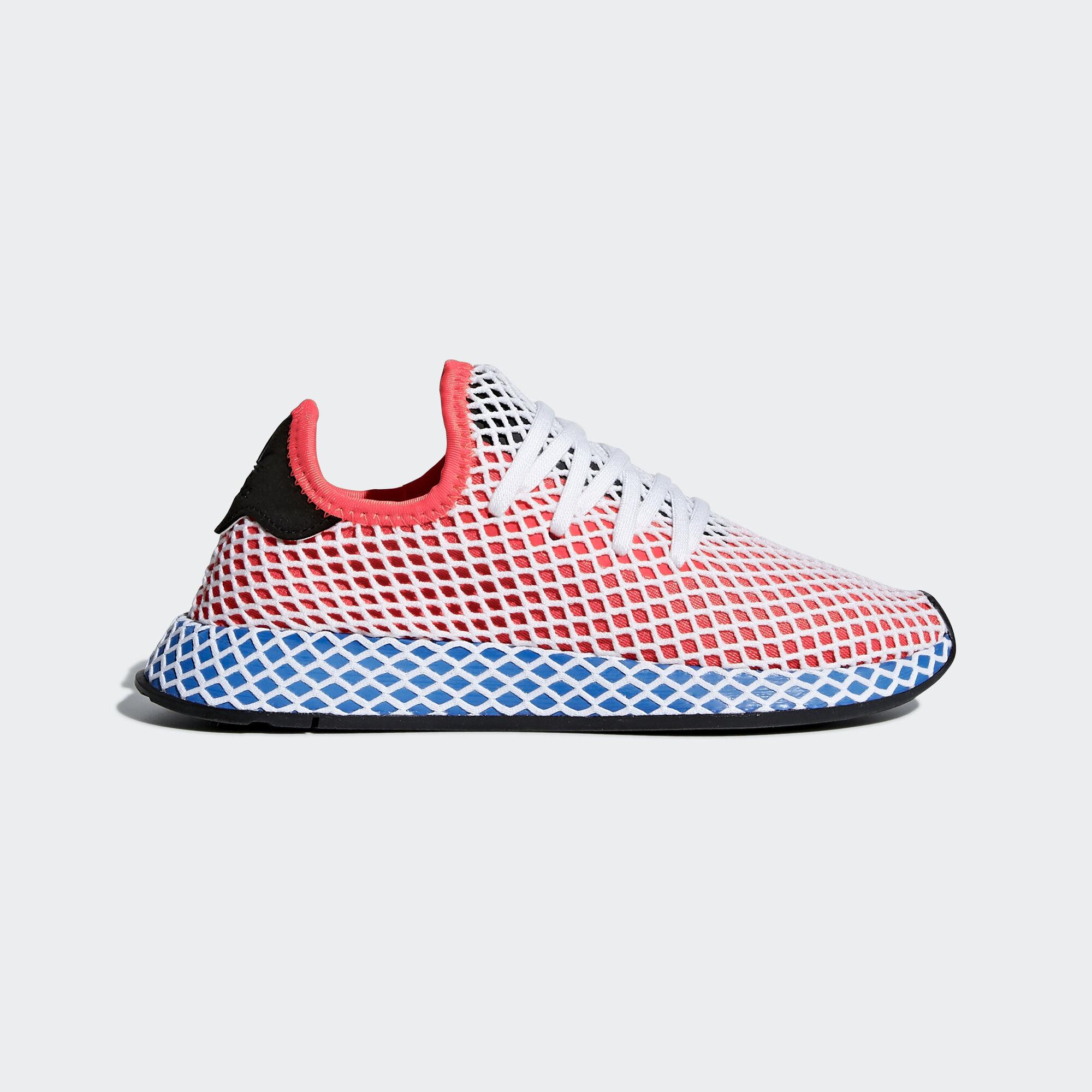 adidas - Deerupt Runner Shoes Solar Red/Solar Red/Bluebird DA9610