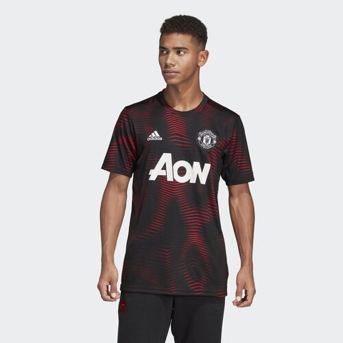 adidas - Manchester United Home Pre-Match Jersey Black / Real Red DP2285