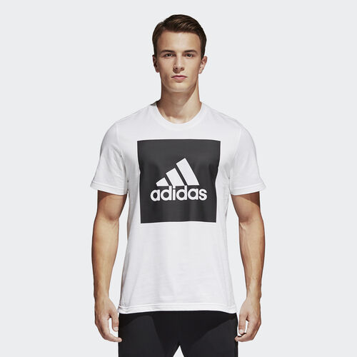 adidas - T-shirt Logótipo Box Essentials White B47358