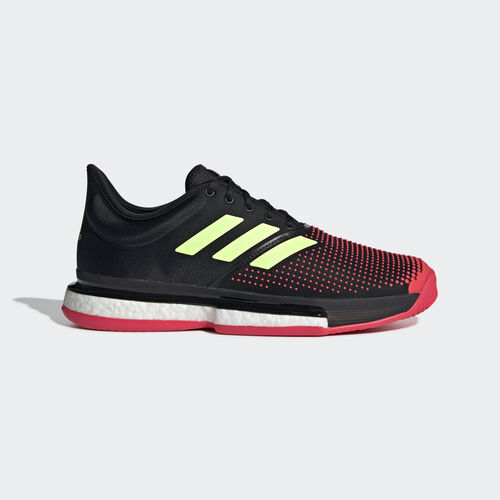 adidas - SoleCourt Boost Shoes Core Black / Hi-Res Yellow / Shock Red AH2131
