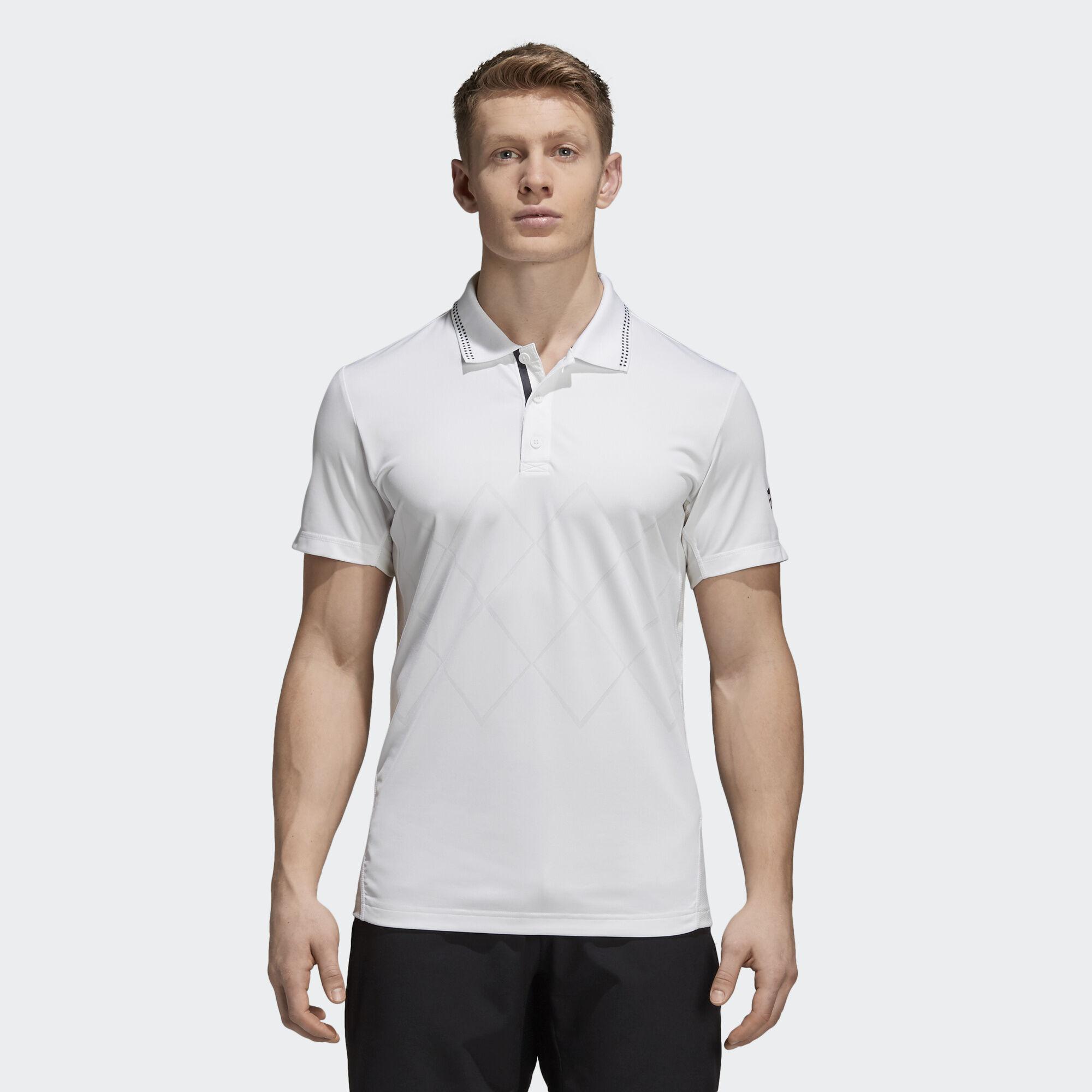 Adidasbarricade engineered polo shirt white adidas for Adidas barricade polo shirt
