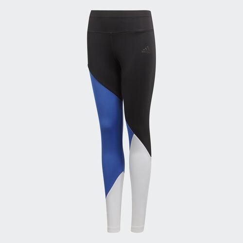 adidas - Training Colorblock Tights Black / Hi-Res Blue / White DJ1062