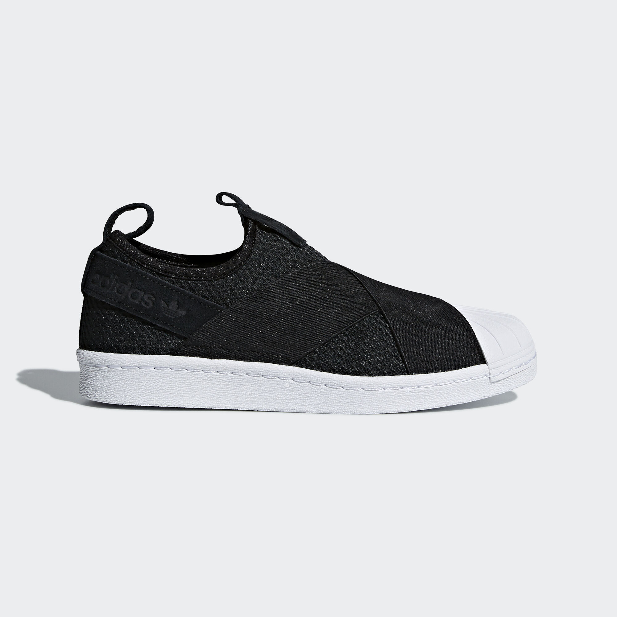 Adidas Superstar Slip On Shoes Black Asia Middle East White Core Ftwr B37193