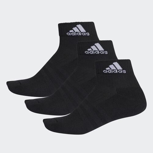 adidas - Meias pelo Tornozelo 3 Riscas Performance – 3 Pares Black/White AA2286